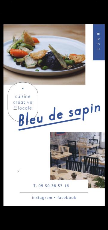 Site internet du restaurant Bleu de sapin à Besançon