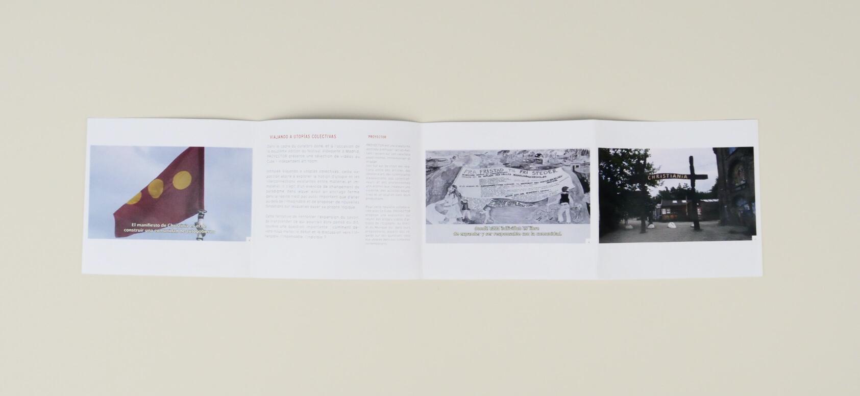 mise en page de livret d'exposition pour le cube