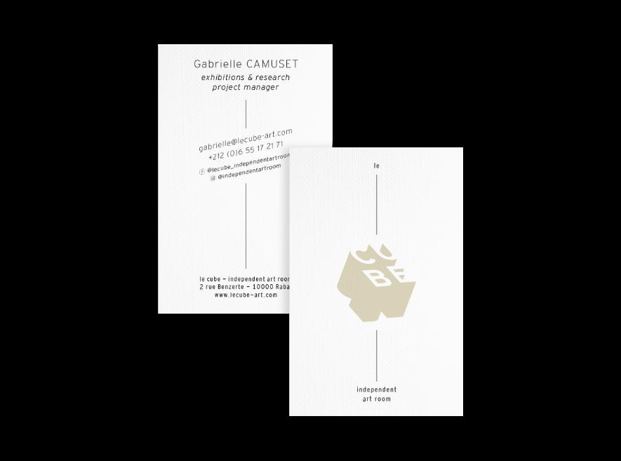 design de cartes de visite