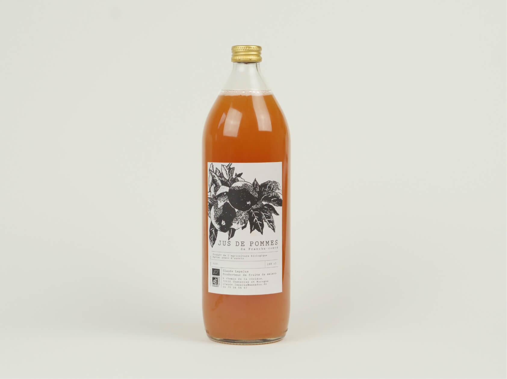 bouteille de jus de pomme - bio et local