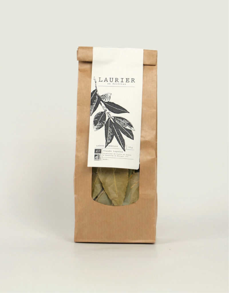 packaging de laurier pour un maraicher local