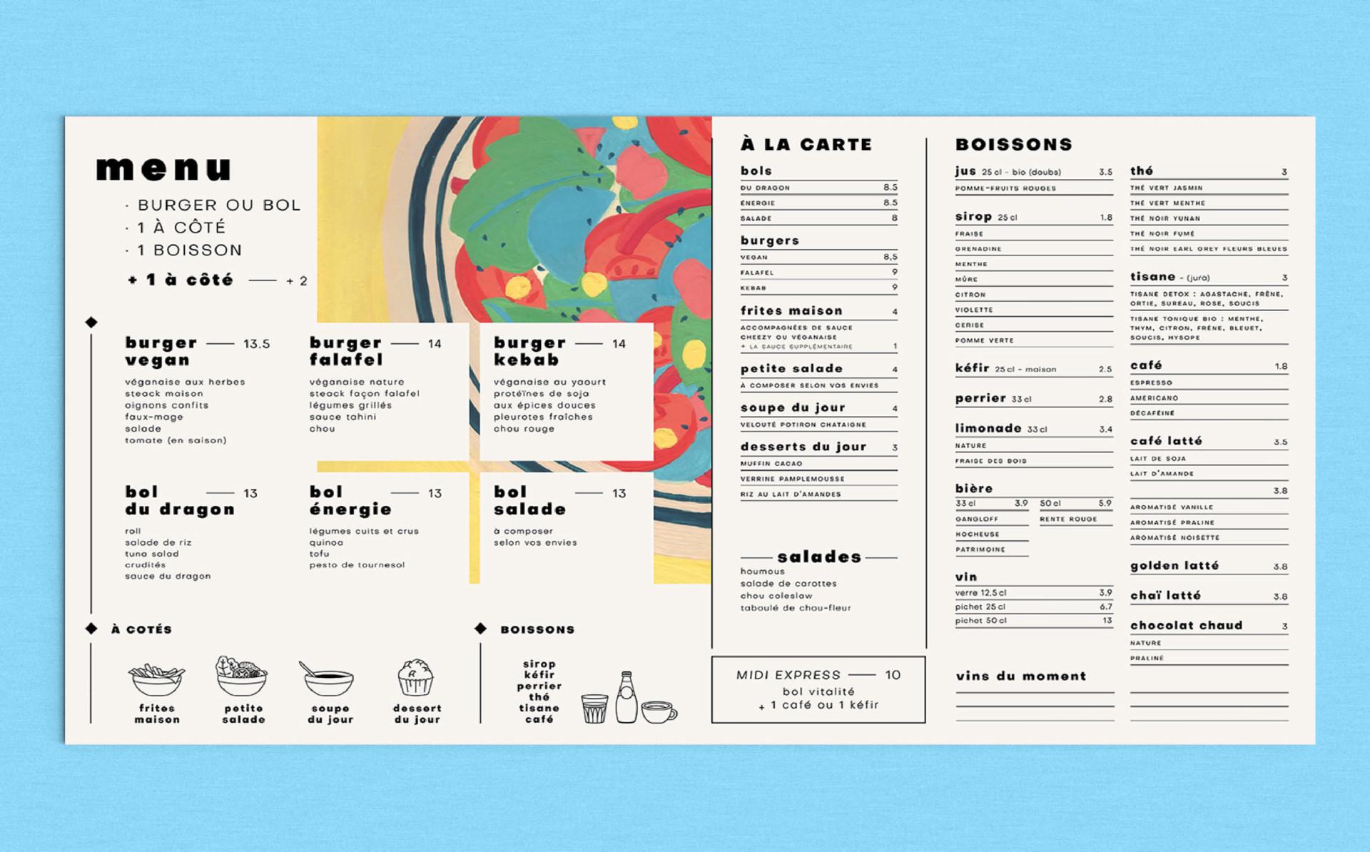 menu de restaurant besançon
