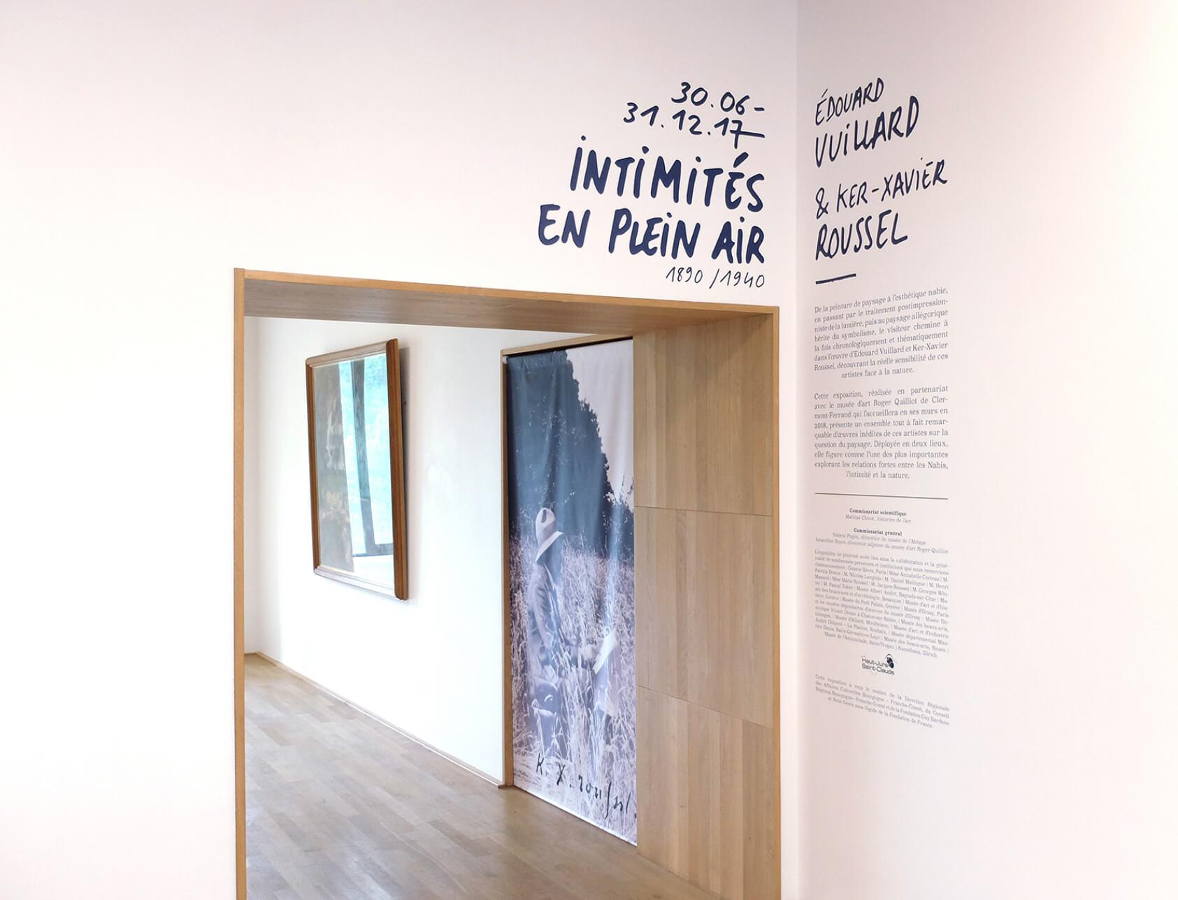 signalétique de l'exposition du musée de l'abbaye