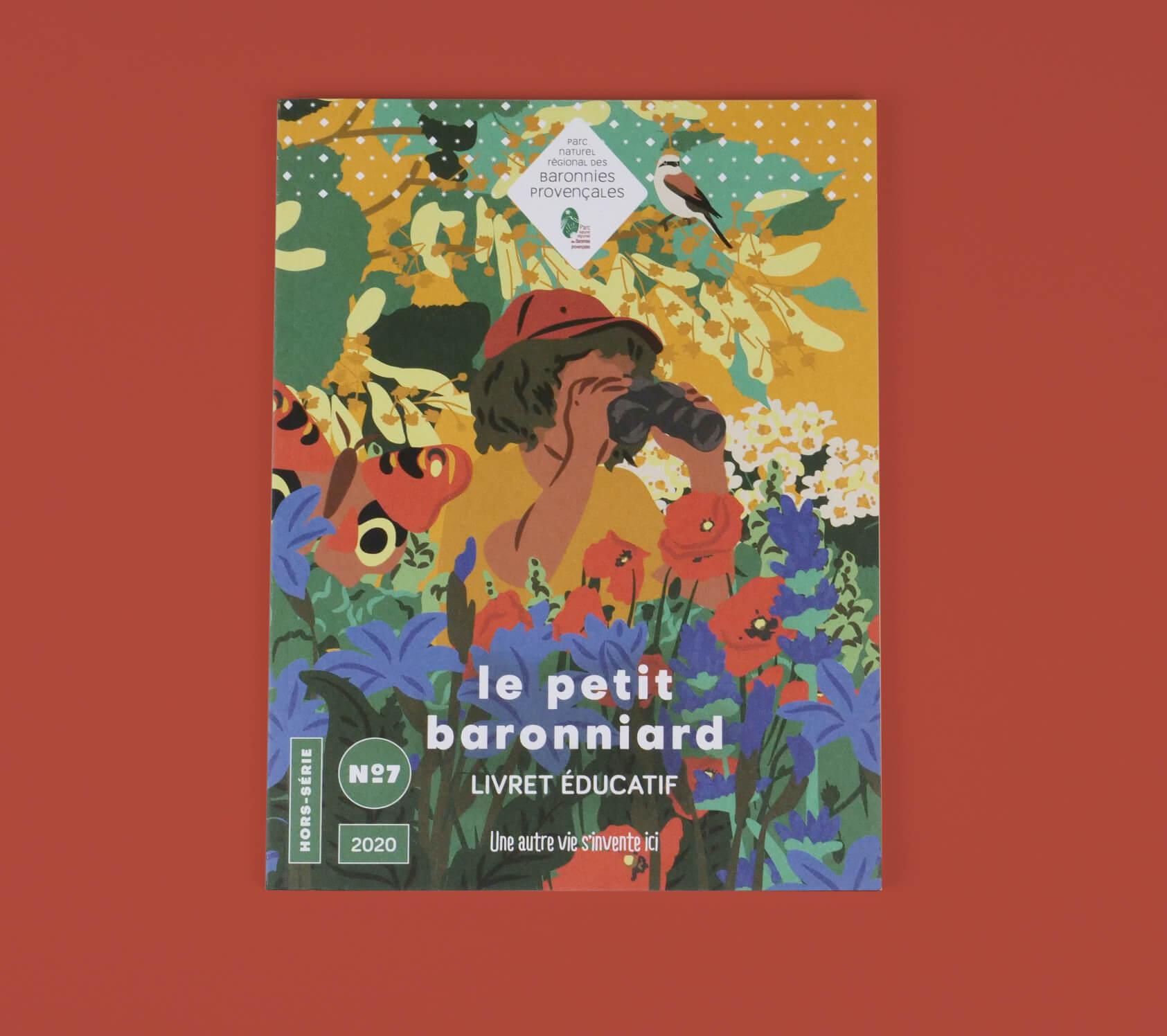 couverture du magazine le petit baronniard - illustration par champ libre