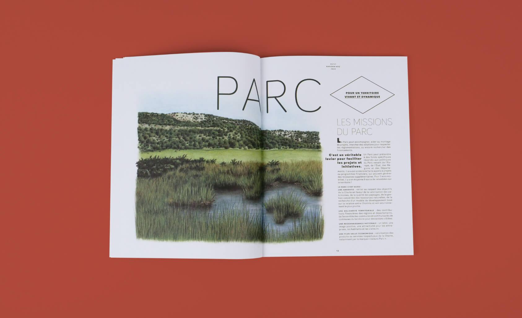 design éditorial - en-tête de chapitre du magazine