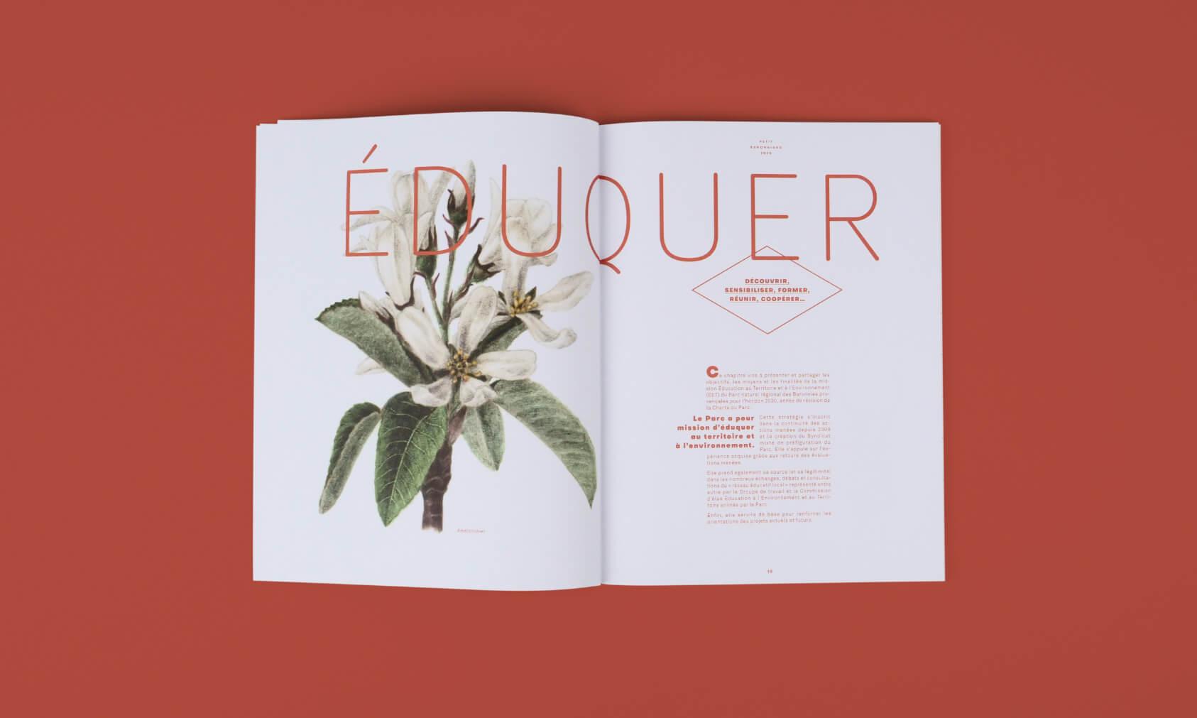 design editorial de magazine avec une illustration