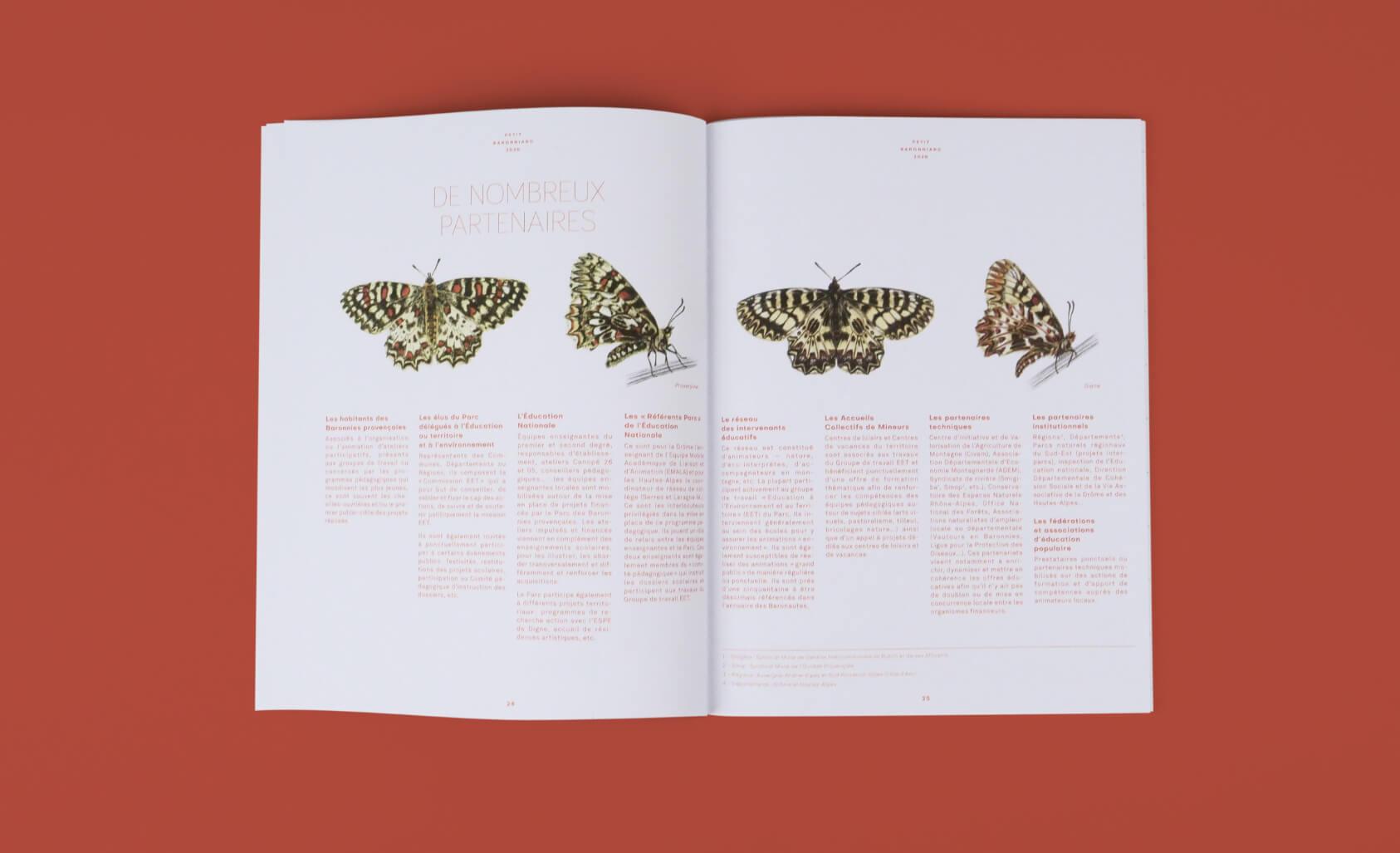 design editorial par champ libre pour le PNR des baronnies provençales