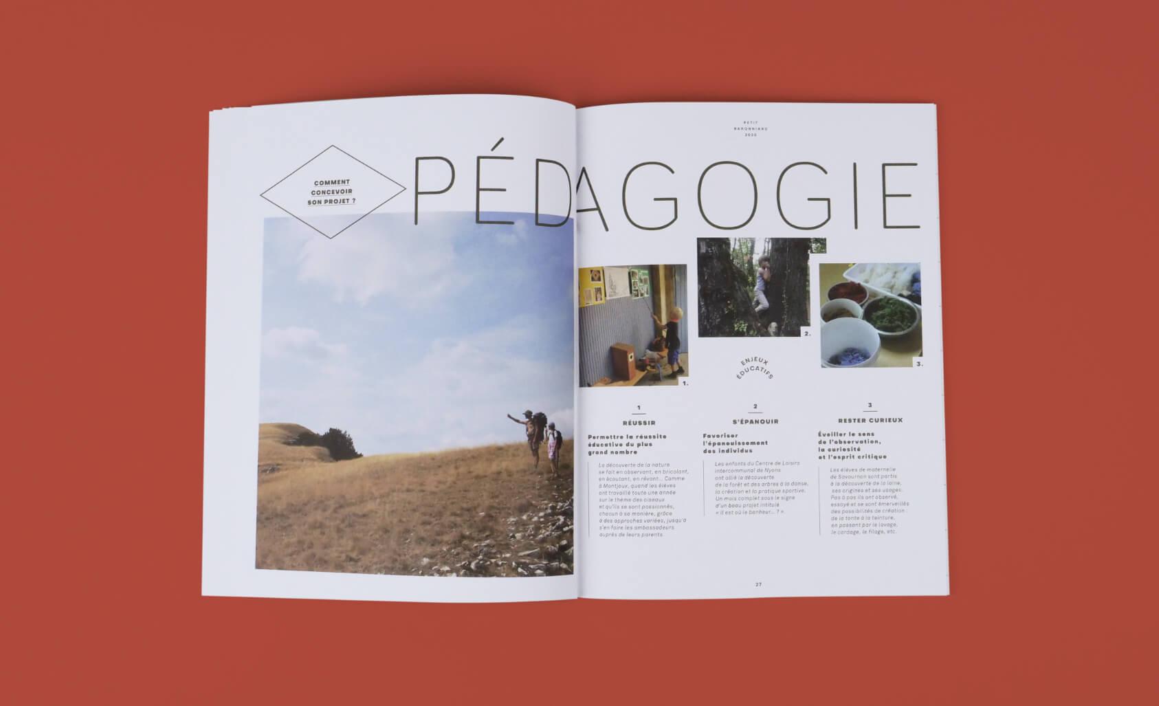 magazine mis en page, design par champ libre