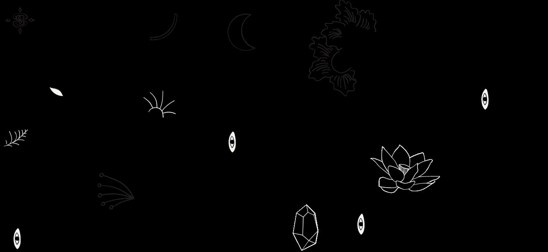 pattern pour l'identité graphique de mélitine, marque de bijoux