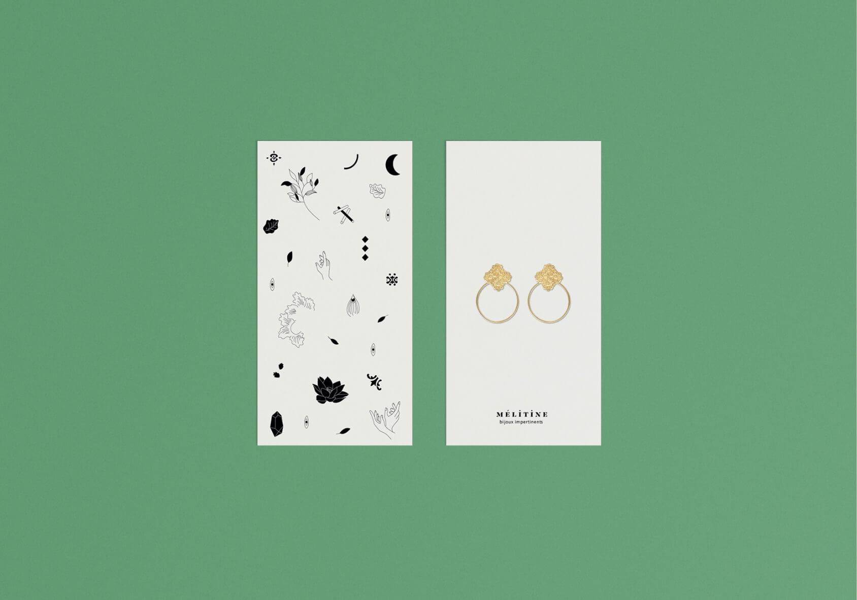 design graphique de carte porte bijous
