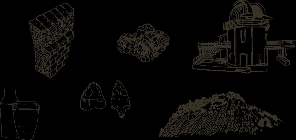 dessin de roches pour le manuel pédagogique des baronnies provençales