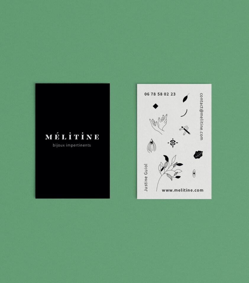 design de cartes de visite pour bijoux