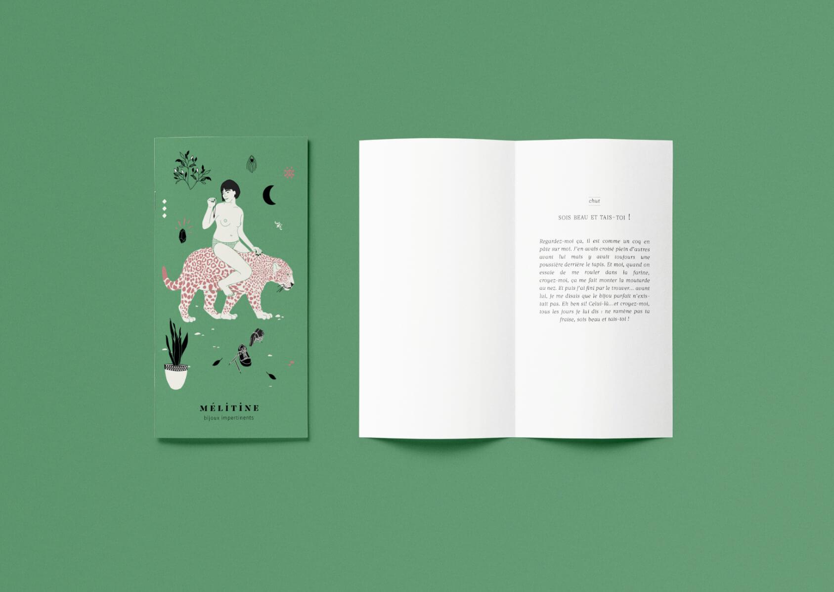 carte avec une poésie illustrée