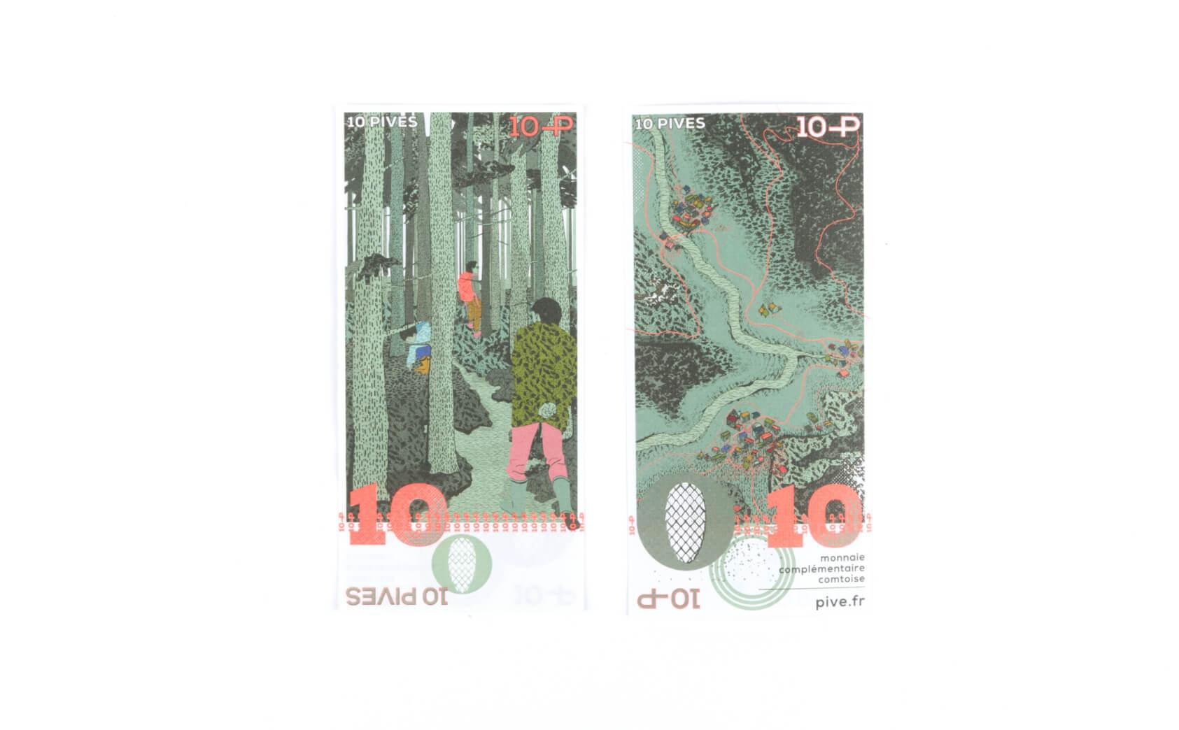 Design des billets de 10 pives