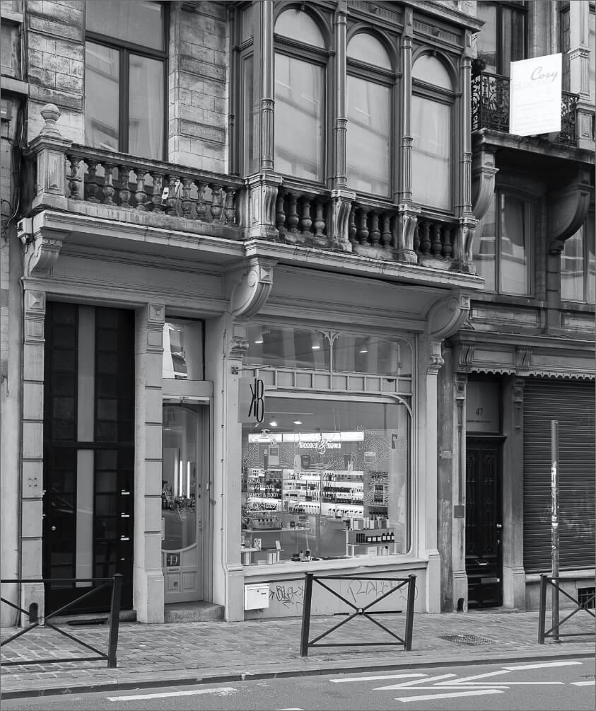 Vitrine pour la boutique beauty by kroonen