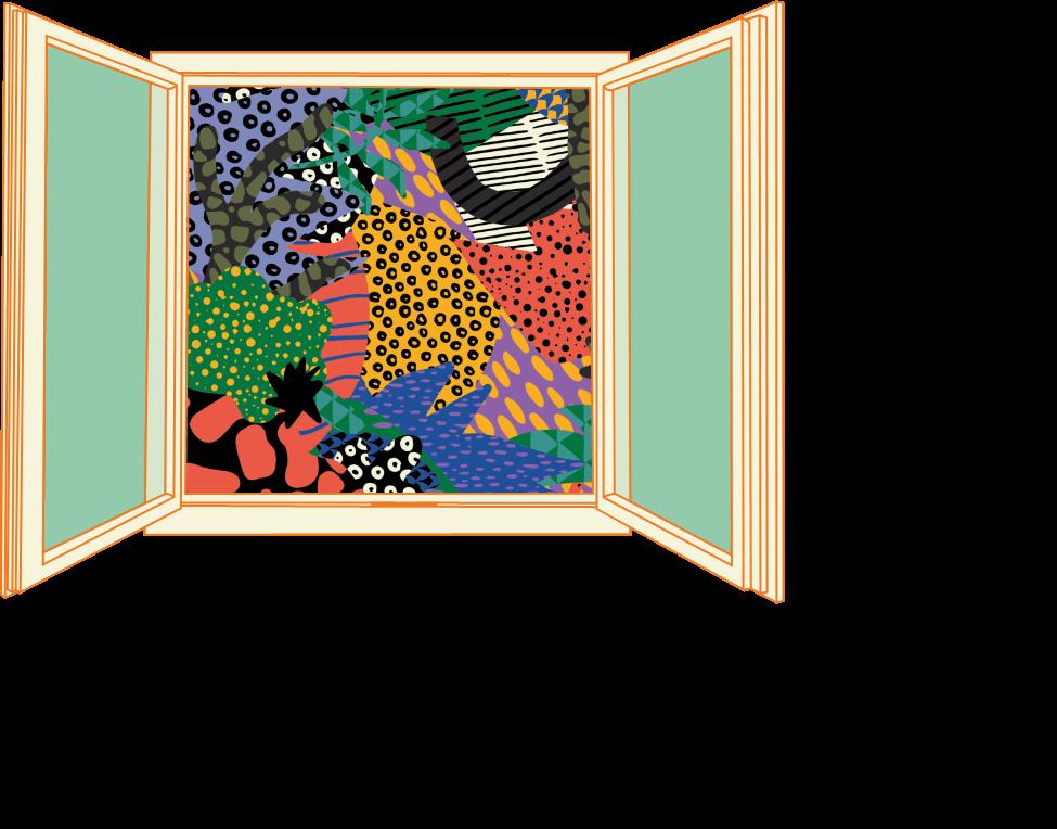 illustration pour le design de la communication du festival Fenêtre sur le monde